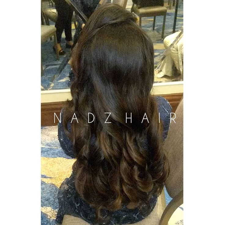 My client went for big loose curl hair and side fringe with volume  style. I call this hairstyle - Lucy curls  For bookings email nadzhairstylist@g......