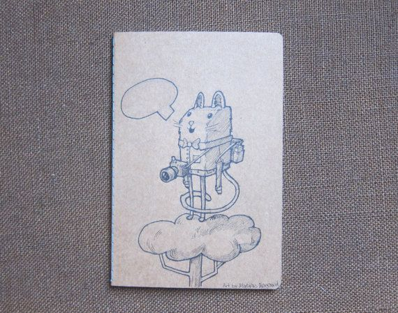 Christmas gift, The cat traveller Hand draw notebook Design and by Fahfield, kr100.00