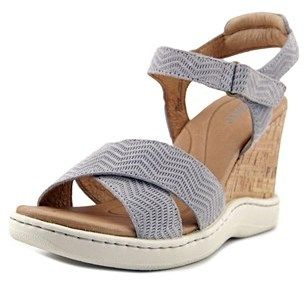 Børn Colton Women Open Toe Leather Gray Wedge Heel.