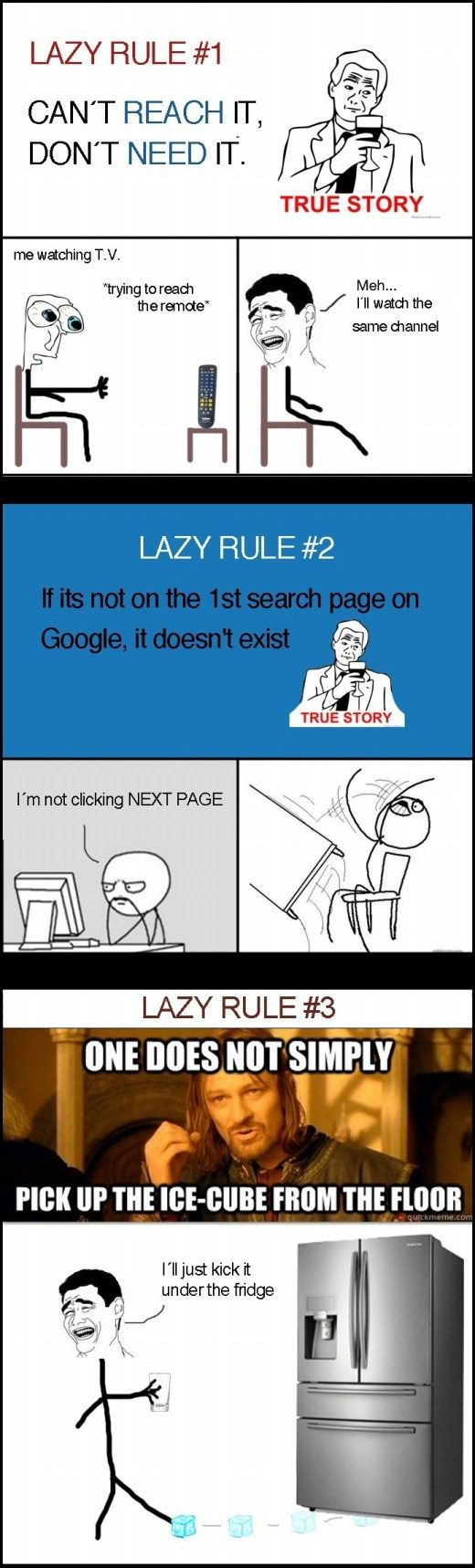 Lazy Rulesツ #Humor #Funny #Relatable