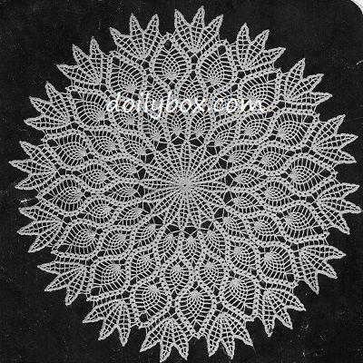 Free Crochet The Pineapple Doily Pattern