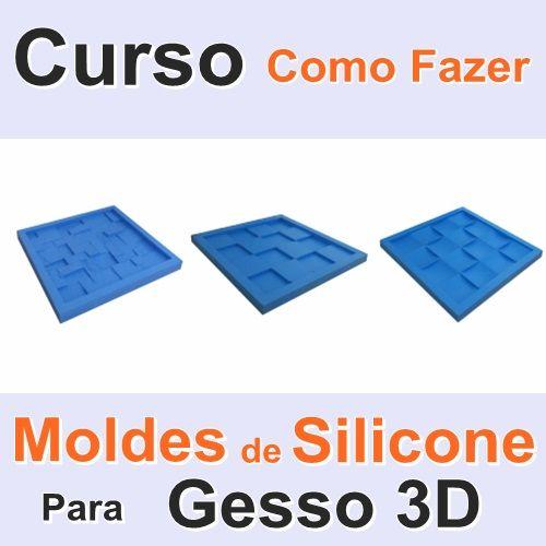 como fazer forma de silicone para gesso 3d