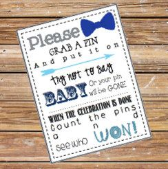 Baby Shower Clothes Pin Game Printable By SweetTeaPaper On Etsy, $4.00