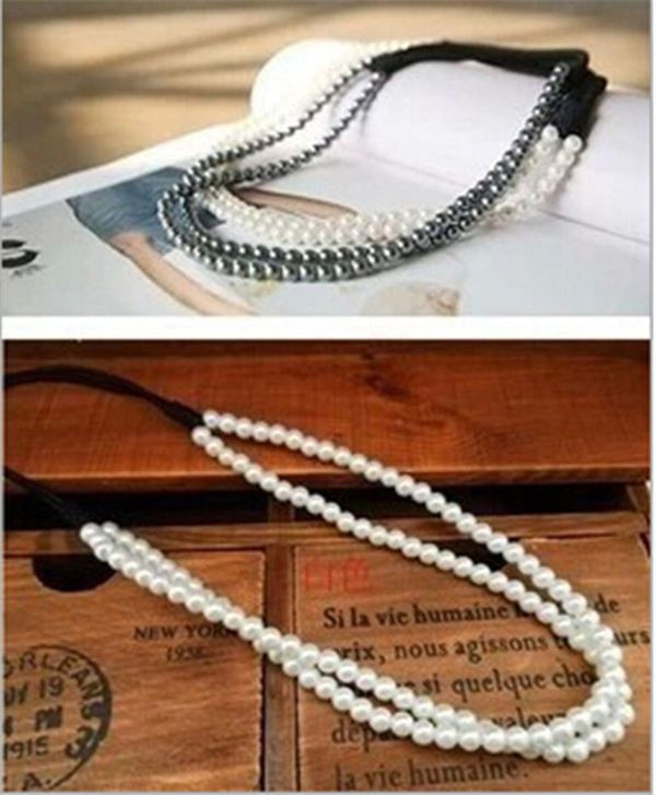 Mädchen elastische Prinzessin Stil Haar Reifen Damen 2 Schichten Perlen Haarband in Kleidung & Accessoires, Damen-Accessoires, Haarschmuck | eBay