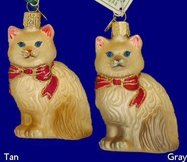 Гималайский кот стекло украшения - на Old World Рождество Цена:$ 10.99 - Цена продажи:$ 9.89 http://www.christmasinprescott.com/hicatorbymef.html#sthash.BoMnLRLd.dpuf