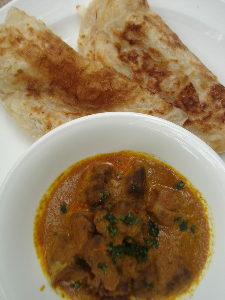 Mutton Rogan Josh - an indian mutton stew served with paratha bread #bali #bar #restaurant #food #lunch #dinner #kuta #tuban #indonesia