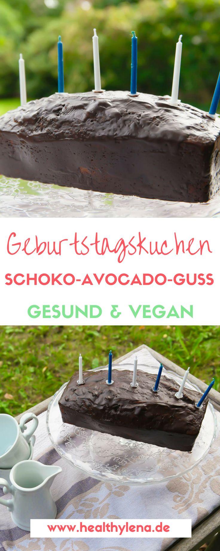 Du suchst nach einem veganen Geburtstagskuchen? Dieser Nusskuchen mit Schoko-Avocado-Guss ist perfekt für den Geburtstag: gesund, vegan & lecker! Mit gesunden Zutaten entsteht so ein leckeres Rezept für gesunden Kuchen mit Avocado, Nüssen & Schokolade.