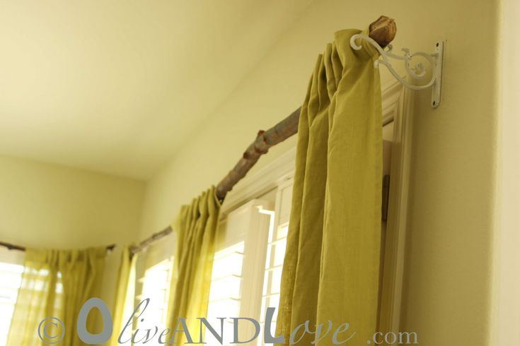 I love house decor inspired by nature and this curtain rod idea is awesome for the nature lover!