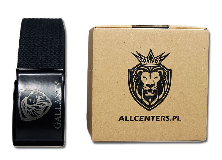 PASEK Parciany Kolory Logo GALLANTY 130cm PREZENT - ALLCENTERS - Paski materiałowe