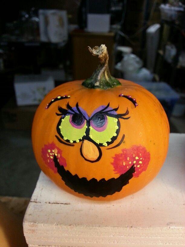 Painted pumpkin | halloween goodies | Pinterest