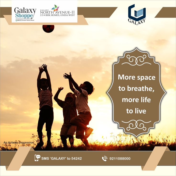 Green Space inspires Positive Energy. We ensure, better living conditions.  #TheGalaxyGroup #GalaxyShoppe #GalaxyNorthAvenue2