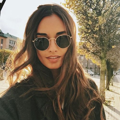 cheap ray ban round  #rayban more hair makeup glamorous, jewelry accessories, details jewellery etc, mode hair