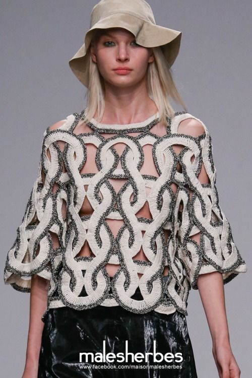 maison-malesherbes:  [ Fashion ] Christian Wijnants SS2015 Please follow us on our FACKBOOK page, if you interested and also to know more about us and crochet, knitting, arts, fashion, movies and more… https://www.facebook.com/maisonmalesherbes/
