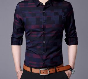Men Shirt Mens Business Casual Shirts 2017 New Arrival Men Famous Brand Clothing Plaid Long Sleeve Camisa Masculina 712