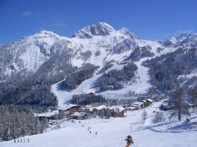 Skiing at Nassfeld, Austria (2012).