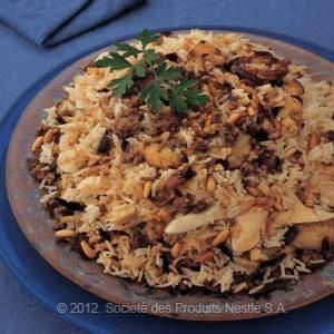 Lebanese Food: Chicken Maklouba with Eggplant Recipe