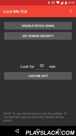 Lock Me Out  Android App - playslack.com , Lock Me Out is a simple but powerful application that allows you to lock yourself out of your device so that you can enjoy some organic device-free, distraction-free time.First, choose a PIN that will unlock your device after the lock out period. Once locked, Lock Me Out will change the PIN to a random number for the lock out period, and change it back to your chosen PIN once the lock out period is over. You will still have access to the lock screen…