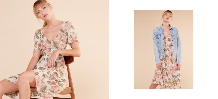 Take me now or lose me forever - limited edition print. This is a calf length dress with a v neck and v back.