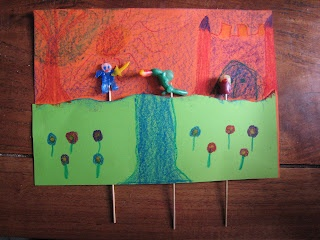 Bewegende tekening, Sint Joris en de draak.