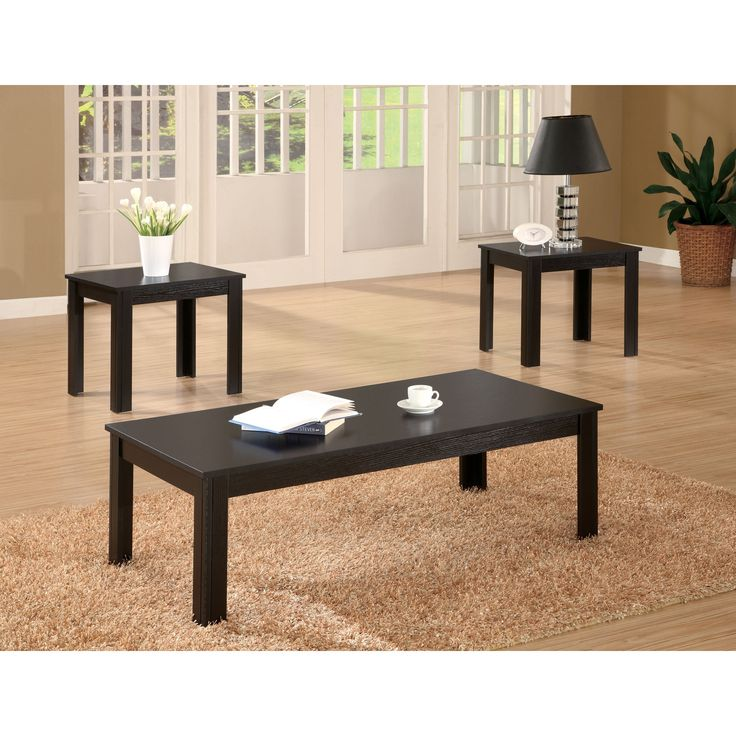 Wonderful Coaster Company Contemporary End Tables And Coffee Table Set (Black)