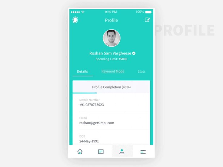 Simpl - User Profile by Adil Siddiqui - Dribbble