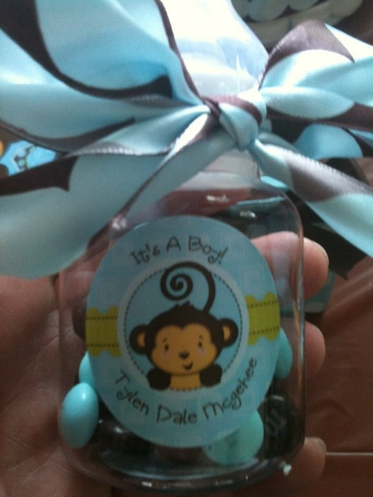 Monkey themed baby shower ideas for a boy