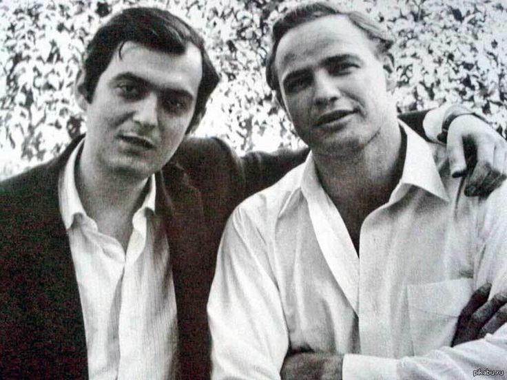 Стенли Кубрик и Марлон Брандо