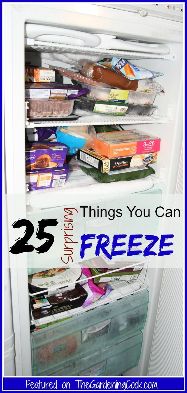 See my list of 25 Surprising things you can freeze - http://thegardeningcook.com/25-surprising-foods-you-can-freeze/