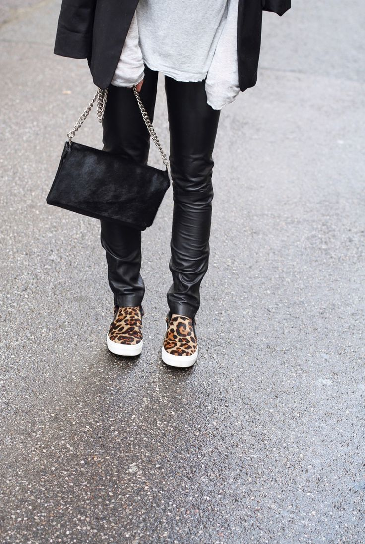 Go to winter outfit  #animalprint
