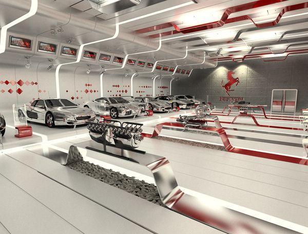 Ferrari Showroom Contest On Behance Interior Showroom Ferrari