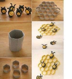 DIY Kinder Bees and Toilet Paper Roll Honeycomb DIY Kinder Bees and Toilet Paper Roll Honeycomb by diyforever