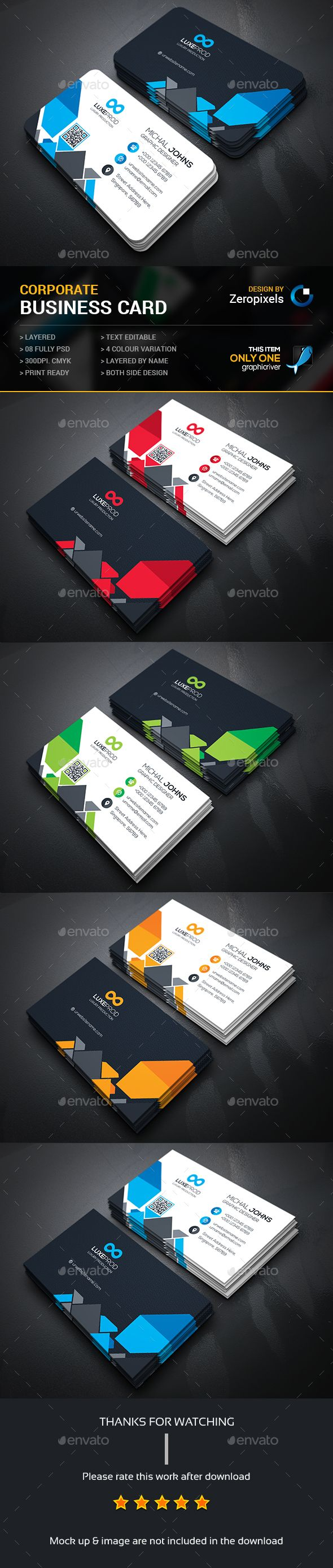 Corporate Business Card Template PSD. Download here: http://graphicriver.net/item/corporate-business-card/15934983?ref=ksioks