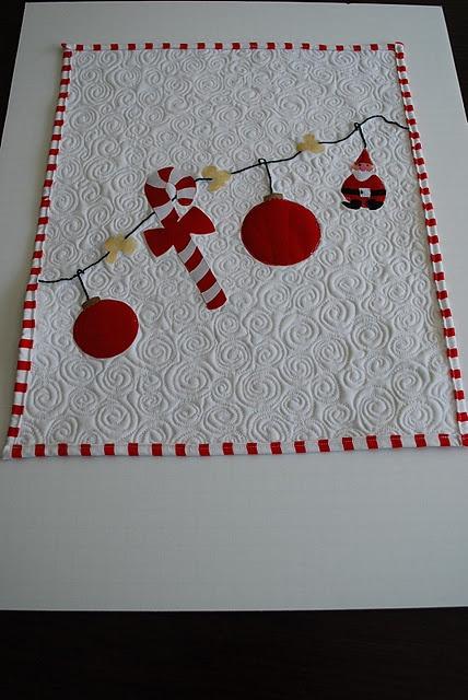 Mini quilt de Natal, simples e lindo!
