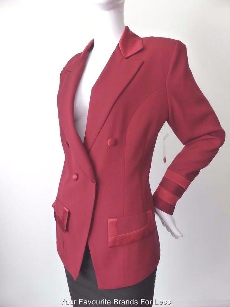 HOTLINE BY CHERYL T. Size 8  US 4 Vintage Tuxedo Jacket Made in Australia #HotlinebyCherylT #Tuxedo