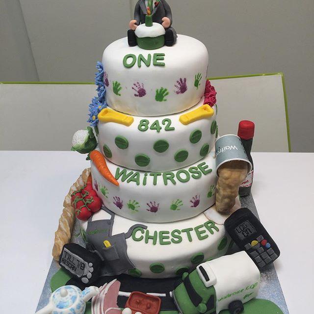 Waitrose Chester First birthday celebration cake