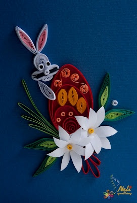 Easter quilled card