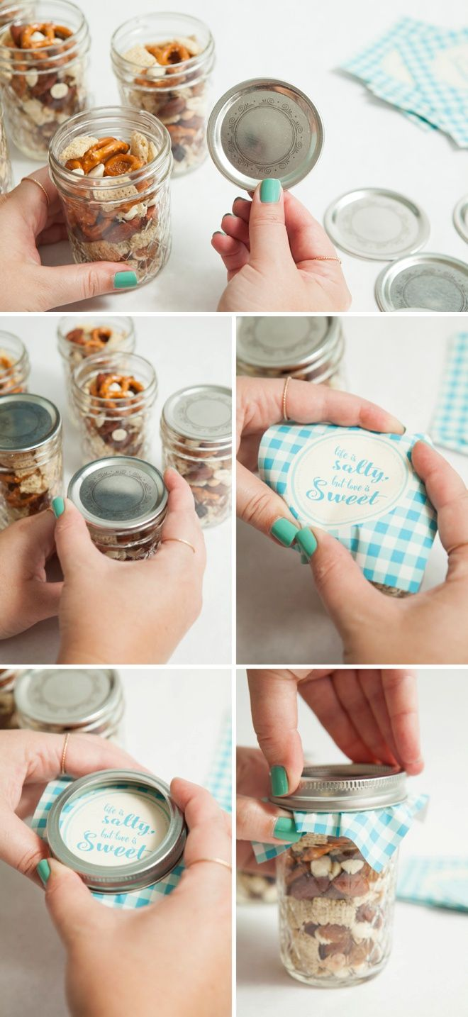 make your own mason jar trail mix wedding favors bloggers best entertaining and wedding ideas pinterest wedding favors wedding and favors