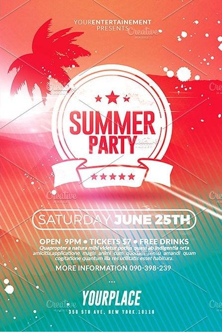 94 best Creative Flyers Templates images on Pinterest Creative - summer flyer template