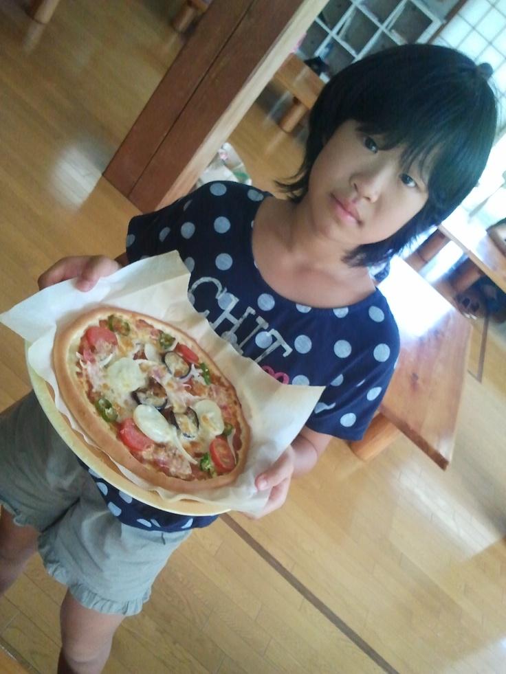 2012年8月19日(日) コムニタでピザ作り体験しました。