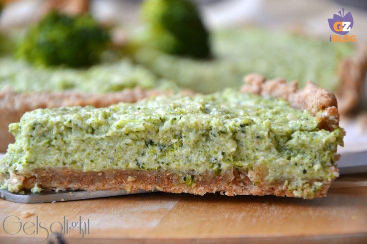 Torta ai broccoli con pasta matta integrale