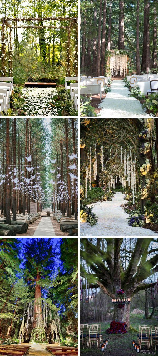 Nice Enchanted Forest Whimsical Wedding Ceremony Ideas