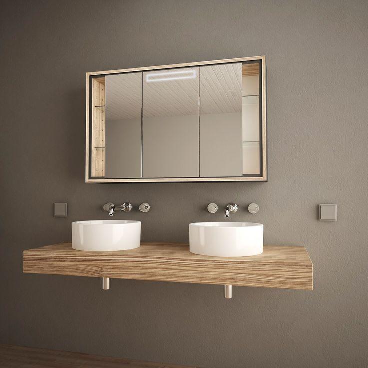 Die besten 25+ Spiegelschrank mit licht Ideen auf Pinterest - badezimmer spiegelschrank günstig