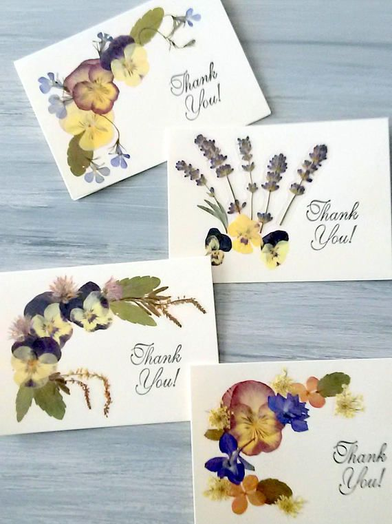 Choose Any 10 Floral Card Set Pressed Flower Card Pack Pack of 10 Cards