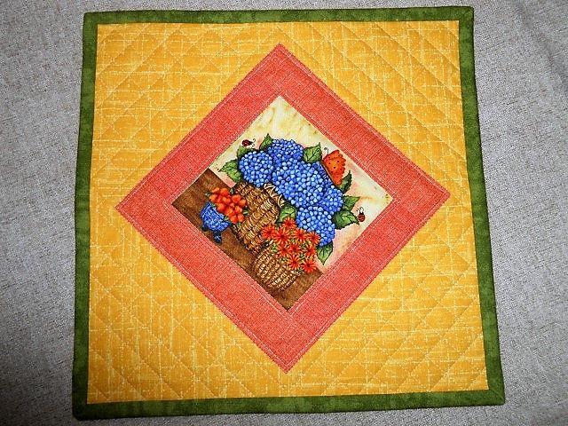 ... žádný velký patchwork :-) prostírka pro radost