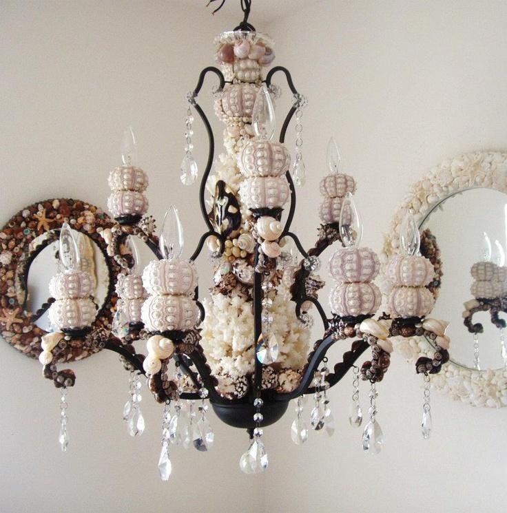 Beautiful Seashell Chandelier Via Http Www Etsy
