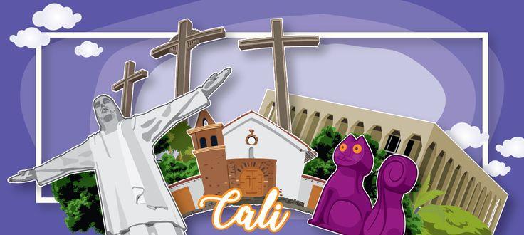 Cali - vector illustration