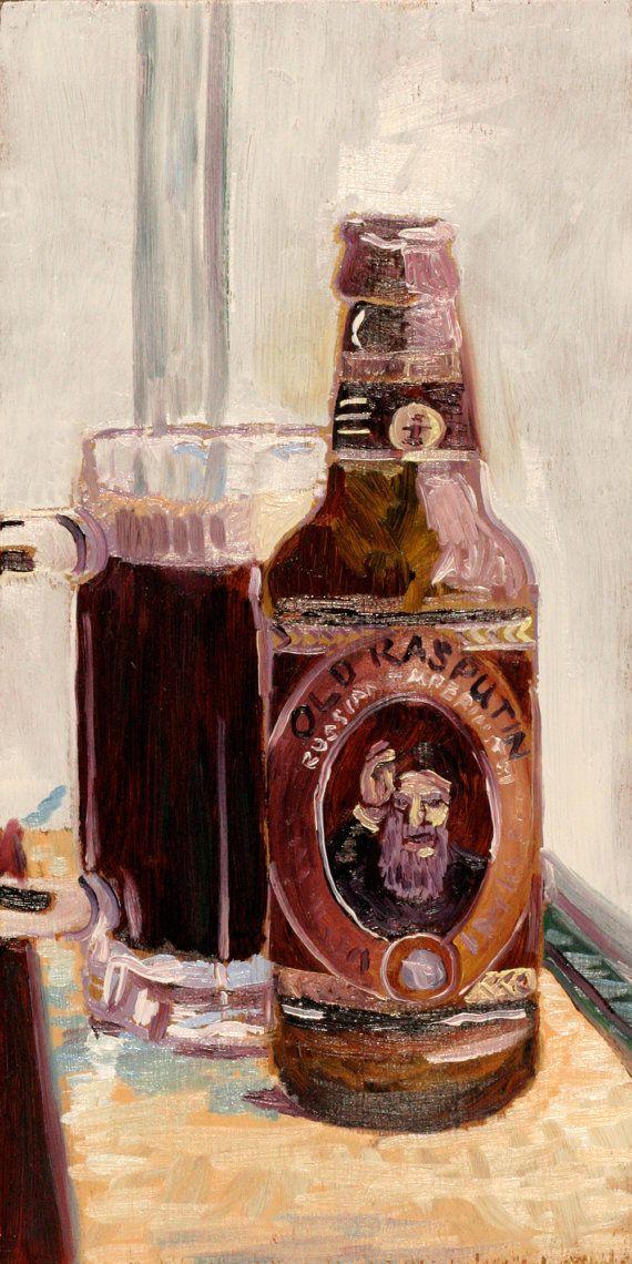 Beer Art Print of Old Rasputin Imperial Stout  by RealArtIsBetter, $35.00