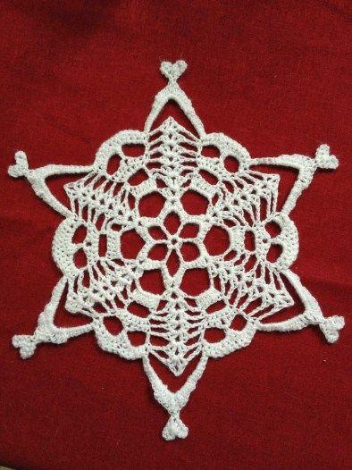 Skull Snowflake free crochet pattern - 10 Free Crochet Skull Patterns - The Lavender Chair