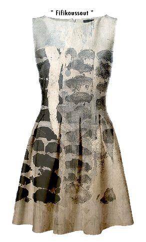 //Nathalia García: Dye, Beautiful Paintings, Style, Cute Dresses, Design Fashion, Dress Painting