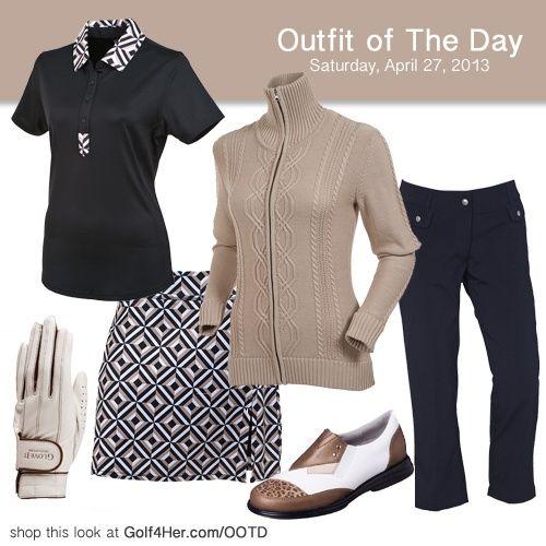 Pecan Ladies Golf Outfit  